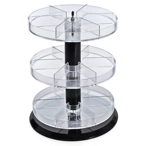 New Retail Three Tier Acrylic Counter Display With Dividers 11 Dia X 13 5 h