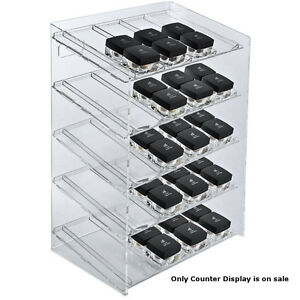 Retail 5 tiered 20 Compartment Cosmetic Counter Display For Pegboard Or Slatwall