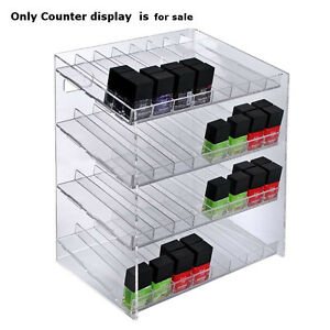 Retail 4 tiered 32 Compartment Cosmetic Counter Display For Pegboard Or Slatwall