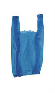 New 2000 Bags Retail Small Blue Plastic T shirt Shopping Bags 8 X 5 X 16 Inch