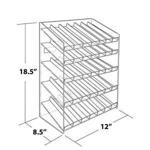 Retail 5 tiered 35 Compartment Cosmetic Counter Display For Pegboard Or Slatwall