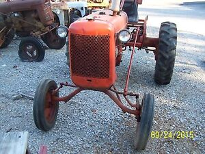 Ac Allis Chalmers C Tractor With Wide Front End And 3 Point Hitch Parting Out