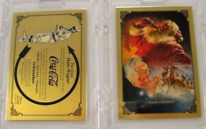 Coca Cola - Two Series One Gold Cards -Both Special Mfg. Issue # 000 from 1993