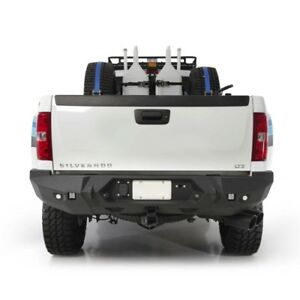Smittybilt M 1 Rear D ring Bumper W Light Kit 07 5 13 Chevy Silverado 3500 Hd