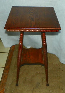 Solid Oak Lamp Table Side Table T478