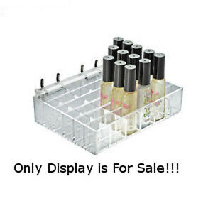 2 Pc New 36 Large Compartment Clear Cosmetic Slatwall Tray 7 125 w X 5 d X 1 5 h
