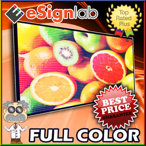 Led Sign Full Color 19 X 119 Programmable Scrolling Outdoor Message Display