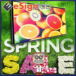 Led Sign Full Color 28 X 91 Programmable Scrolling Outdoor Message Display