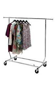 Collapsible Single Rail Rolling Salesman Commercial Garment Rack