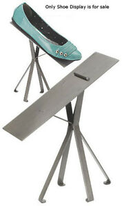 New Retails Raw Steel Finished Shoe Display Stand 8 Inches
