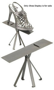 New Retail Raw Steel Finished Shoe Display Stand 6 Inches