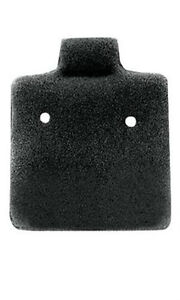 Case Of 200 New Retails Black Plain Felt Puffed Earring Cards 1 X 1
