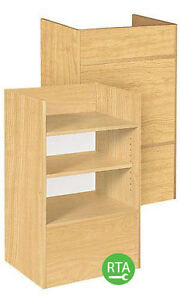 New Retails Maple Well Top Register Stand 38 h X 18 d X 24 l