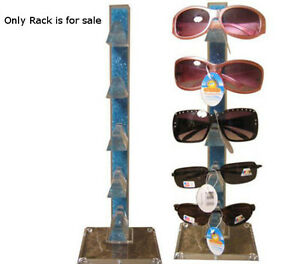 Blue Acrylic Counter Top Sunglass Display Rack Holds 5 Pairs 16 5 H X 5 5 W