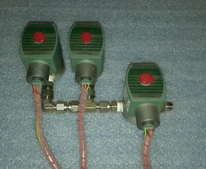 Asco 302020 Red Hat Valve Solenoid Valves lot Of 3 129