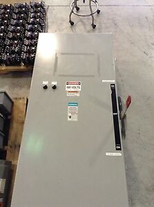 Siemens Heavy Duty Double Throw Mts Fusible Safety Switch Dtf365 400 Amp 600 V