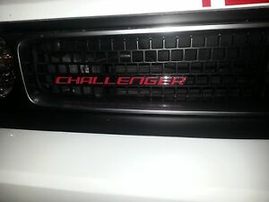 Challenger Grill Emblem Decal Sticker Overlay Fits 2013 2014 Dodge Challenger
