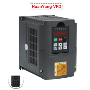 Huanyang 110v 3kw Variable Frequency Drive Inverter Vfd 4hp 13a Cnc Mill Lathe