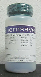Tantalum Boride 99 5 metals Basis Powder 325 Mesh Certified 25g