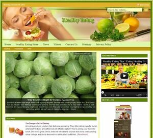 healthy Eating Turnkey Website For Sale turnkeypages