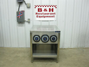 Amtekco 24 Stainless Slushie Pop Soda Machine Table Cabinet W Cup Holders 2