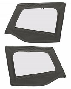 Smittybilt Upper Door Skins For 88 95 Jeep Wrangler Yj Soft Top Black Denim