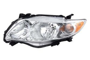 Fits For 2009 2010 Toyota Corolla Headlight Lamp Left Driver Side