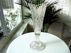 Antique Glass Mckee Champion Pattern Clear 10 Centerpiece Vase 1896