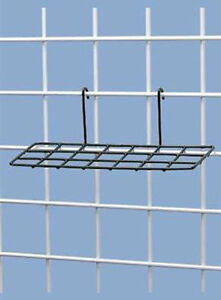 Lot Of 5 New Retail Black Wire Shoe Shelves For Grid 10 l X 4 w