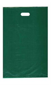 Count Of 1000 Large Green High density Plastic Merchandise Bag 15 X 4 X 24
