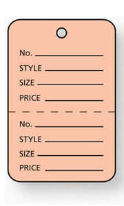 Pack Of 1000 New Small Pink Unstrung Coupon Price Tags 1 w X 1 h
