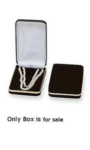 New Retails Black Velvet Necklace Jewelry Box 4 X 7 X 1