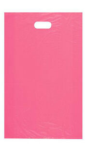 Count Of 1000 Large Pink High density Plastic Merchandise Bag 15 X 4 X 24