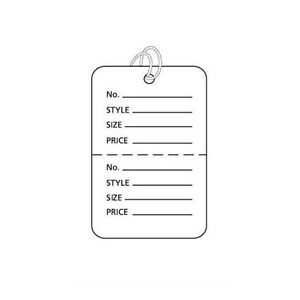 Pack Of 1000 New Retails White Small Strung Price Tags 1 w X 1 h