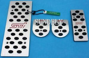New Aluminum Mt Rest Foot Pedals Set For Subaru Legacy Outback Forester Impreza