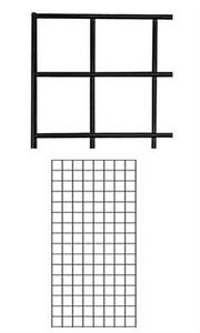 2 Panel New Black Finish Wire Grid Wall Panel Fits Wire Grid Fixtures 2 X 4