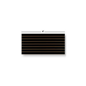 Pack Of 2 New Black Finished Slatwall Easy Panels 2 h X 4 w Panels