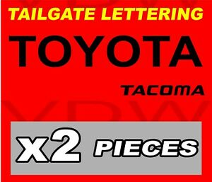 Toyota Tacoma Tailgate Vinyl Decal Sticker Emblem Logo Graphic Black