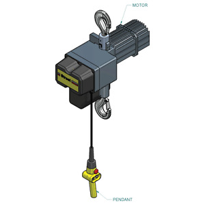 1 Ton Electric Chain Hoist Two Speed Street Lx Series Free Freight