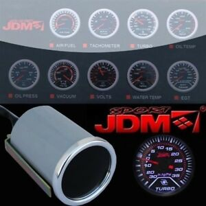 Jdm All Car 2 Inch 52mm Led Turbo Charge Boost Gauge Gauges Meter Smoke Tinted