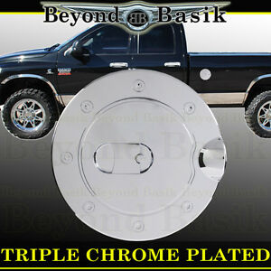 For 1994 2008 Dodge Ram 1500 94 09 2500 Chrome Fuel Gas Door Cover Trim Overlay