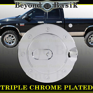 1994 2008 Dodge Ram 1500 94 09 2500 Chrome Fuel Gas Door Cover Cap Trim Overlay