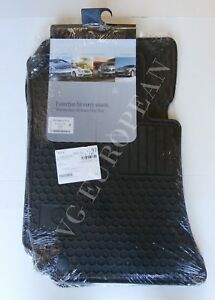 Mercedes benz W212 W218 E Cls Sedan Genuine All Season Rubber Floor Mat Set New