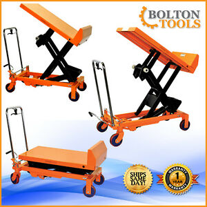 Material Handling 660 Lb Capacity Hydraulic Scissor Lift Tilt Table Cart 660 Lb