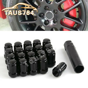 20 Black 1 2x20 Spline Lug Nuts For 1999 2000 2002 2004 2005 Jeep Grand Cherokee