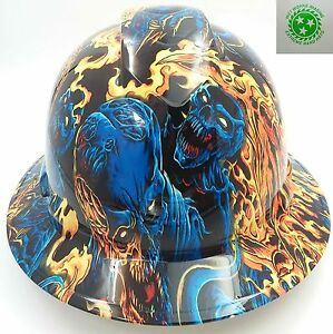Hard Hat Full Brim Custom Hydro Dipped Osha Approved Ice Skull Battle Royal