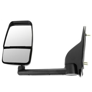 03 17 Chevy Express Savana Van Textured Black Manual Tow Mirror Left Driver Side