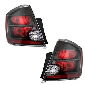 Fits For Ns Sentra 2007 2008 2009 Rear Tail Lights W Black Right Left Pair Set