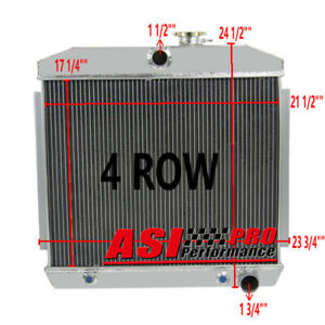 3 Row Aluminum Radiator For 1955 1956 1957 Chevy Bel Air V8 W Cooler Pro