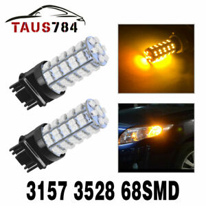 2x White 6000k 3157 3156 Back Up Reverse Projector 2538 Chip Led Lights Bulbs